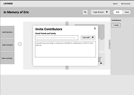 Wireframes- Invite