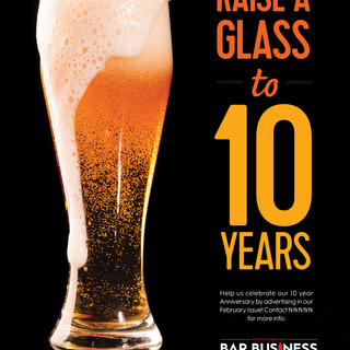Bar Business Anniversary Ad