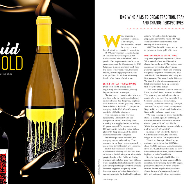 Bar Business Liquid Gold Spread