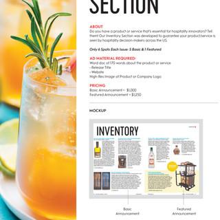 Bar Business Inventory Sell Sheet
