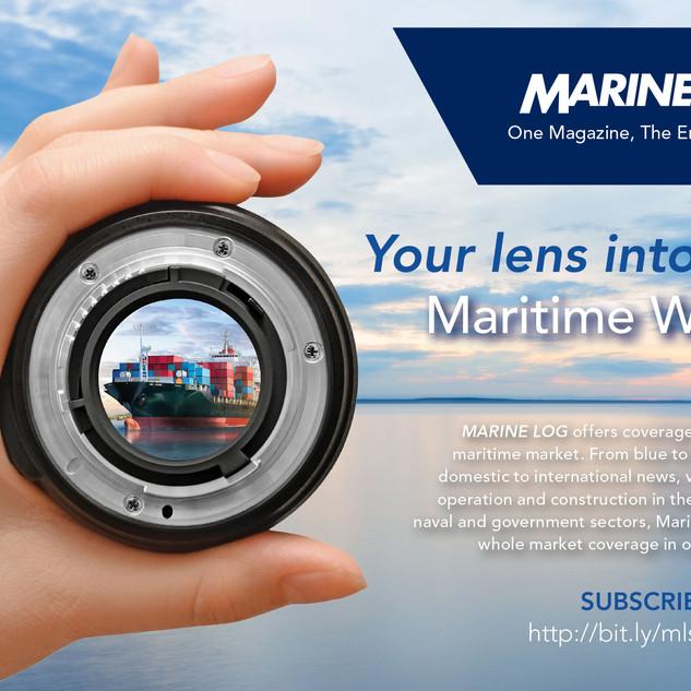 Marine Log House Ad