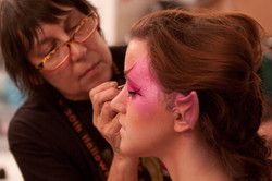 Our resident makeup artist