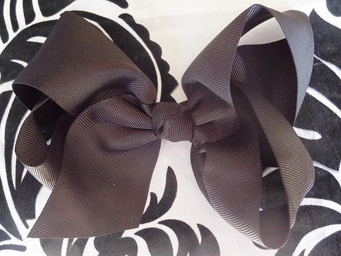Dark Brown Hair Bow