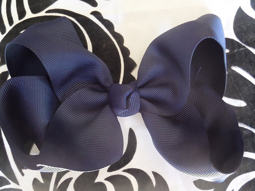 Navy Blue Hair Bow