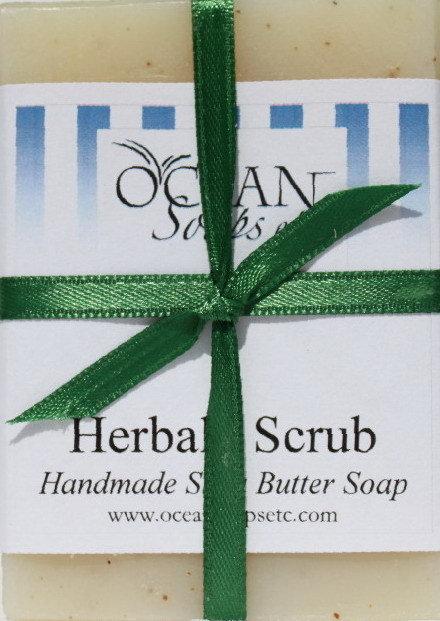 Herbal Scrub Shea Butter Soap