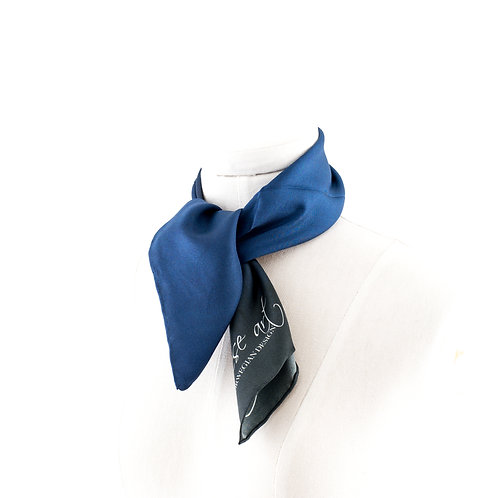 Silk Blue Neck
