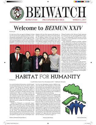March 3, 2017 Pre-issue BEIMUN XXIV Cove
