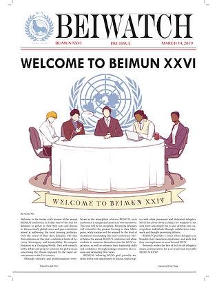 March 14, 2019 BEIMUN 2019 Pre-Issue Cov