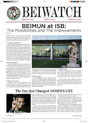 March 5, 2017 - Issue 2 BEIMUN XXIV Cove