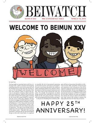 March 10, 2018 BEIMUN 2018 Pre-Issue Cov