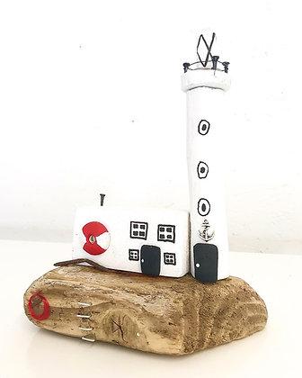 Handmade Driftwood Lighthouse