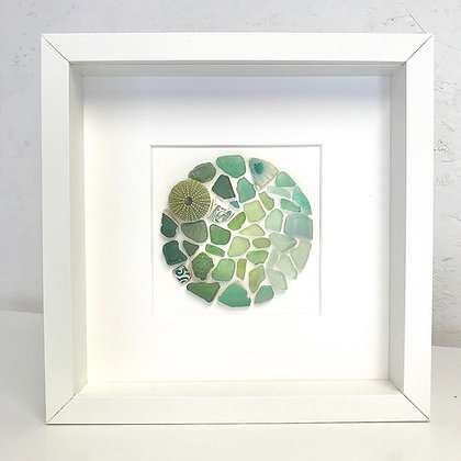 Fading Green Beachcombed Mosaic