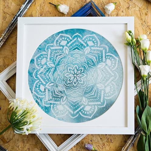Broken Record - Ocean Mandala Original Artwork
