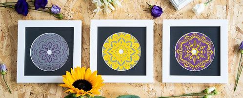 Scratched Disc Trio-   Original Artwork