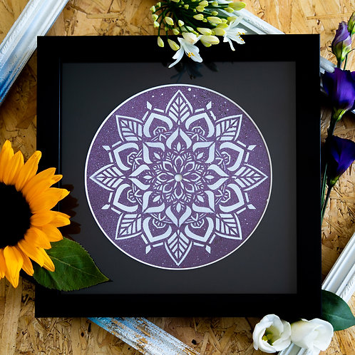 Shattered Single- Purple Mandala Original Artwork