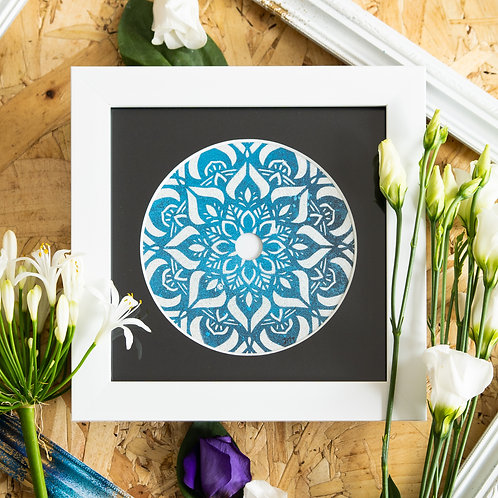 Scratched Disc- Deeply Blue Original Artwork