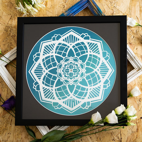 Broken Record - Teal Mandala Original Artwork
