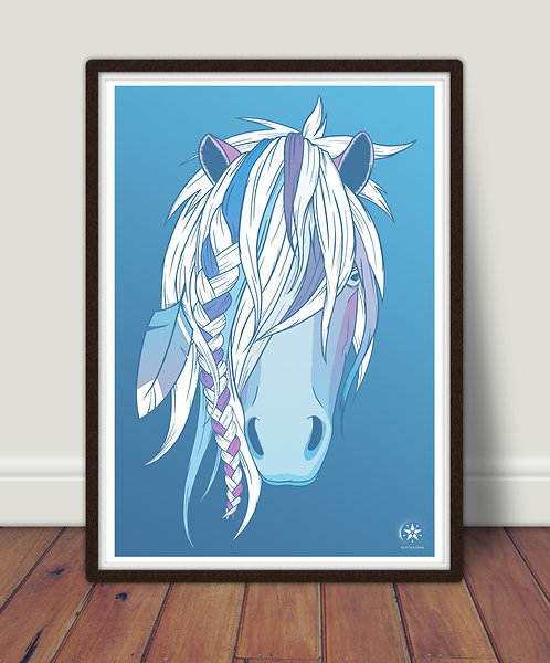 'Ice Horse' Limited Edition A2 Giclee Print