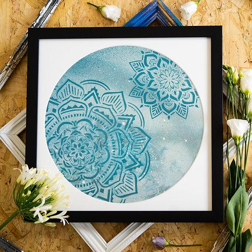 Broken Record - In-two the Ocean Mandala Original Artwork