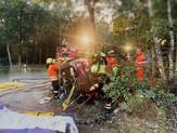 Verkehrsunfall, eingeklemmte Person 🚑 🚒 Alarmübung am 19.09.2019
