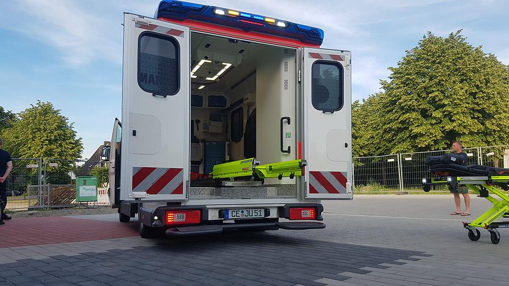 RTW der Johanniter- Unfall- Hilfe Eschede