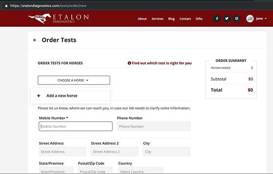 Add a Horse for Etalon DNA Testig