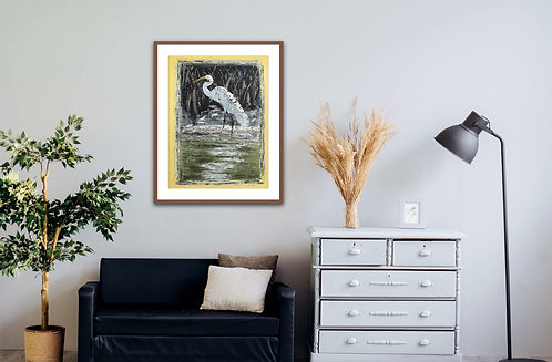 """ONO ISLAND EGRET"" -Fine Art Quality Giclee Print; Prices starting @"