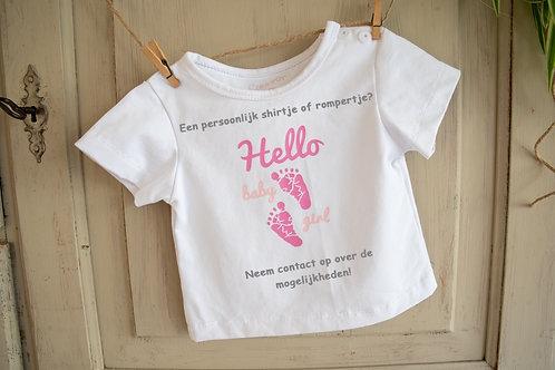 BS 001 T Shirt baby, gepersonaliseerd