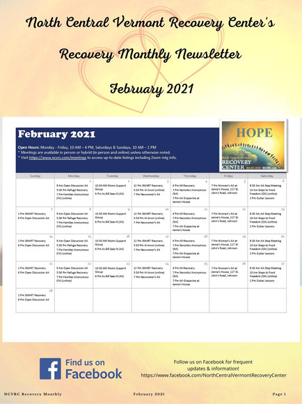 Check Out Our February Newsletter!