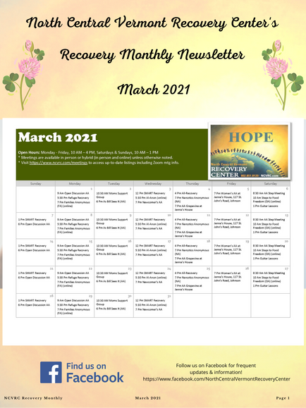 Don't Miss Our March Newsletter!