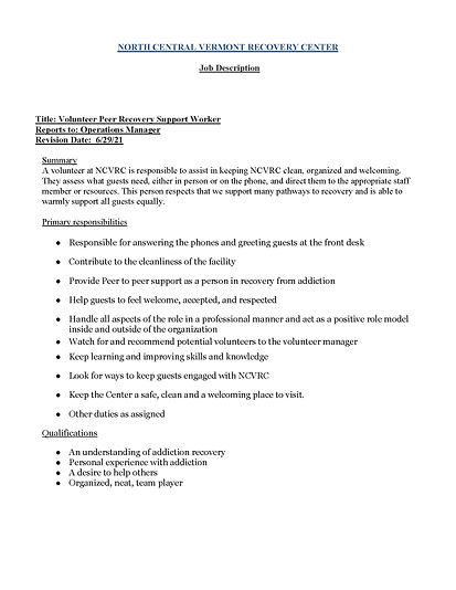 NCVRC Volunteer Peer Recovery staff job description.jpg