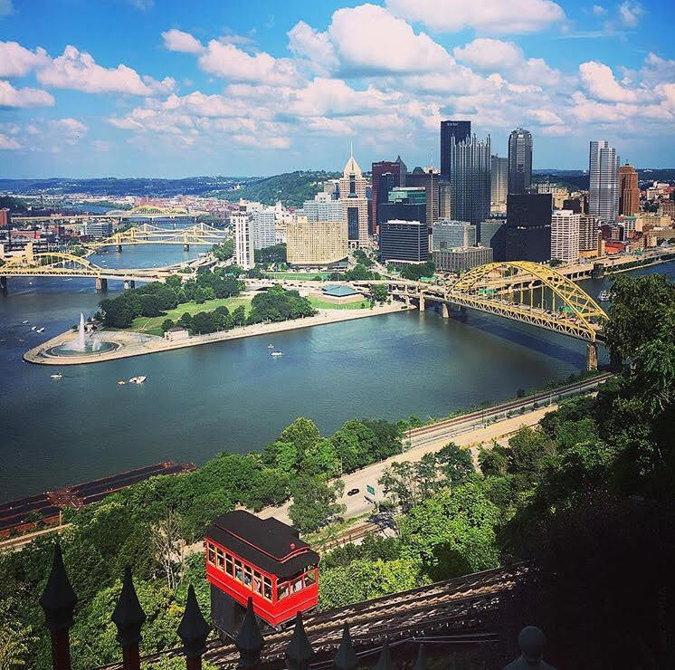 A beautiful view of Pittsburgh from Mt. Washington