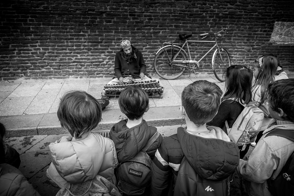 Street Musician, Italy