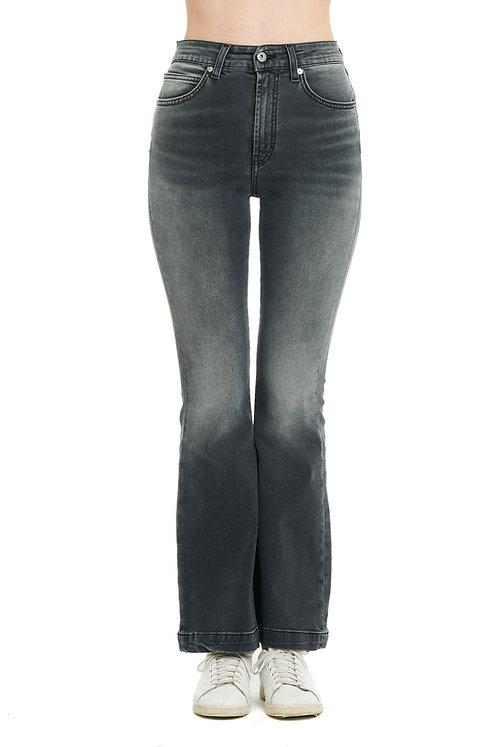 FRANCY black jeans zampa high-waisted
