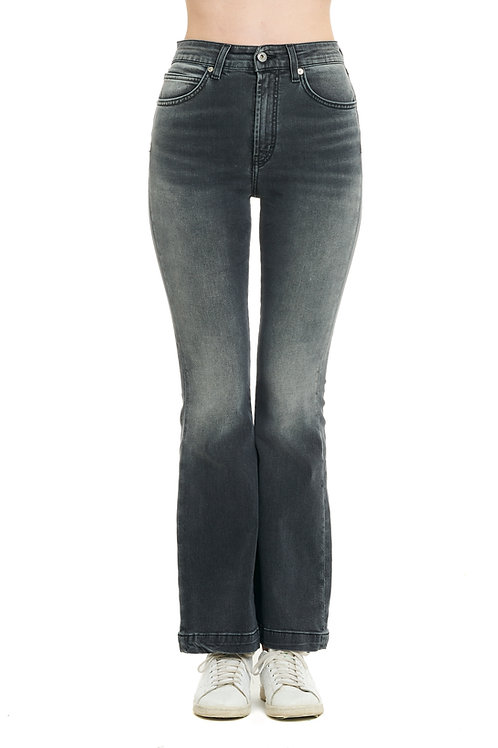 FRANCY black jeans zampa high-waisted