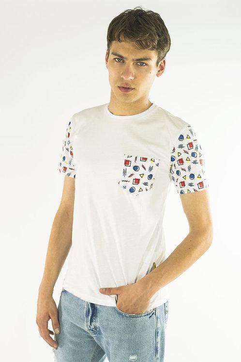 T-shirt POP GEOMETRIC white