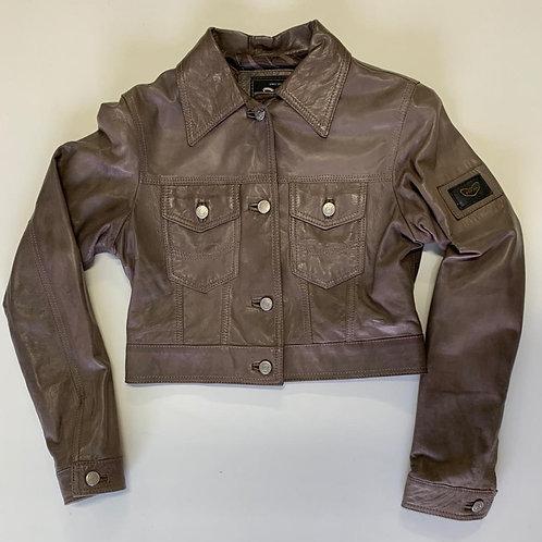 POP84 woman jacket in genuine leather