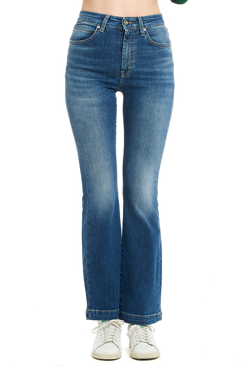 FRANCY blue jeans zampa high-waisted