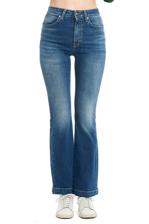 FRANCY blue jeans zampa high-waisted