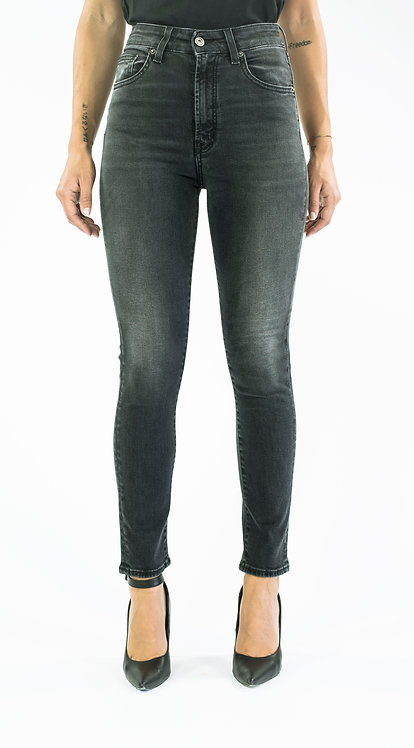 NIKY black jeans high-waisted slim fit
