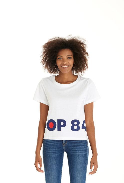 T-shirt POP84 BOX white