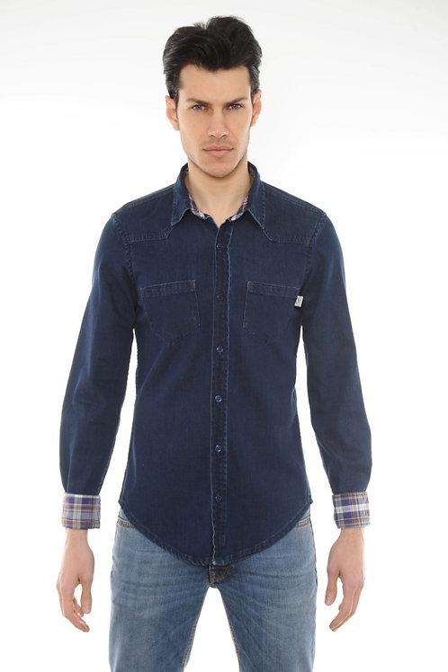Denim shirt POP84 dark