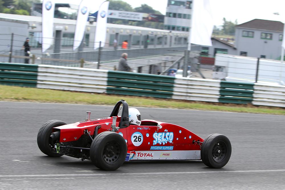 Max Hart exits Dunlop corner wrong way round