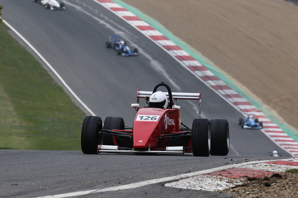 Mark Reade in action at Brands Hatch