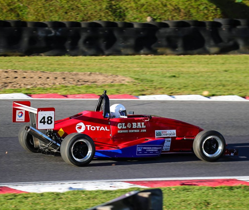 Max Hart in action at Brands Hatch earlier this year