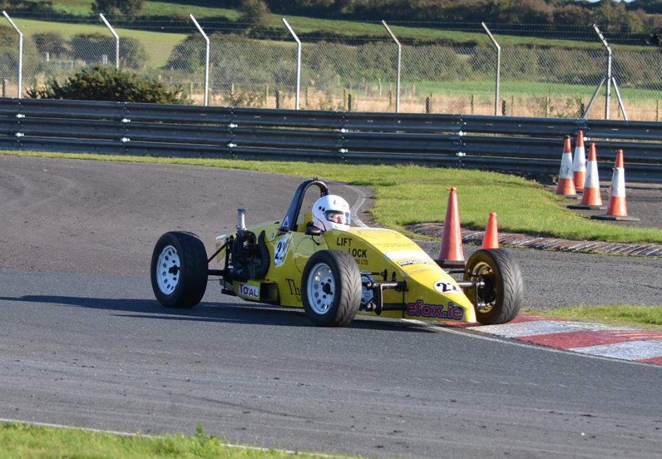 Kevin Cahill navigating the chicane