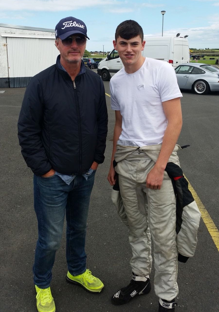 Max and former F1 ace Eddie Irvine
