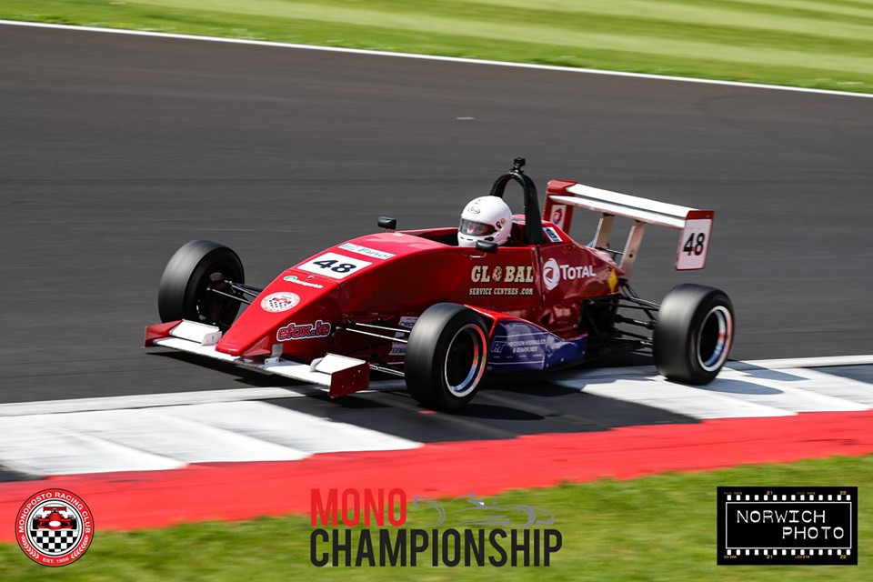 Morgan McCourt in action at Silverstone - Photo by Norwich Photo