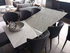 2 - Italian Marble Table - Damage top 1.