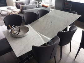 2 - Italian Marble Table - Damage top 1.
